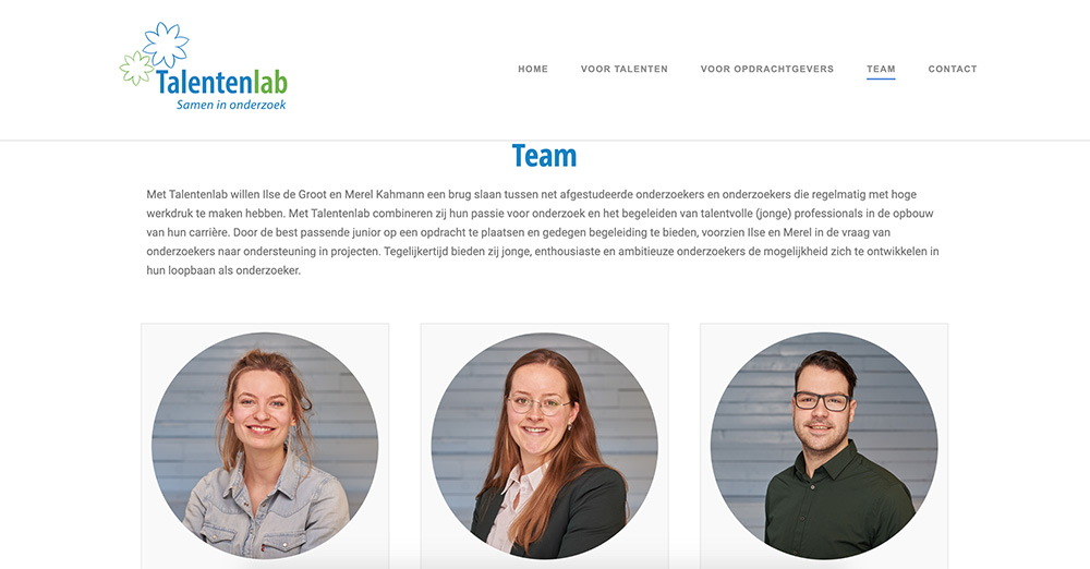 Talentenlab website